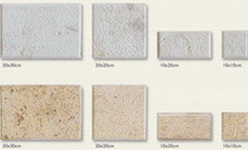 hammered tiles,with bevel, in 4 dimensions