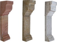 pieces from natural stone for fire places
